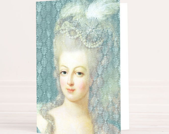 Marie-Antoinette card - stationery, blank cards, Marie Antoinette invitation, Marie Antoinette party, French
