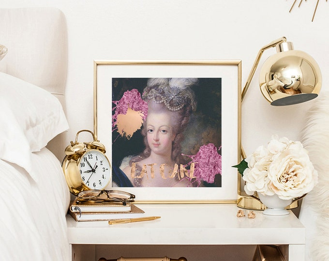 Faux Rose gold print - Marie Antoinette print - French decor