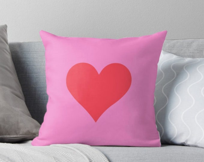 Valentine's Day Pillow - Love Heart Pillow - Gift for her