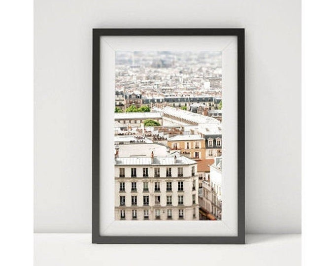 Paris Photography Print - Paris rooftops - Framed Paris Print - Paris canvas wrap