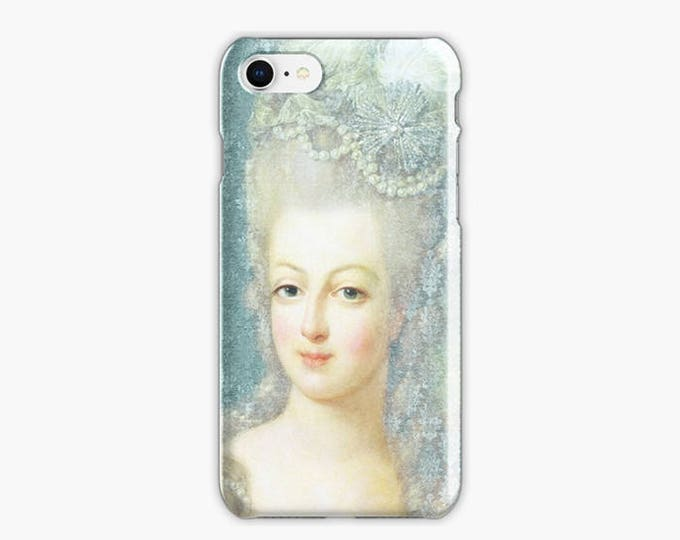Marie-Antoinette iPhone 8 case, iPhone 8 plus case, blue iPhone case, iPhone X case, French iPhone case, Gift for her