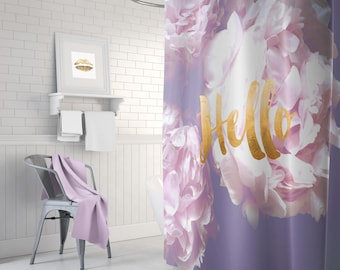 Gold Lilac Shower Curtain