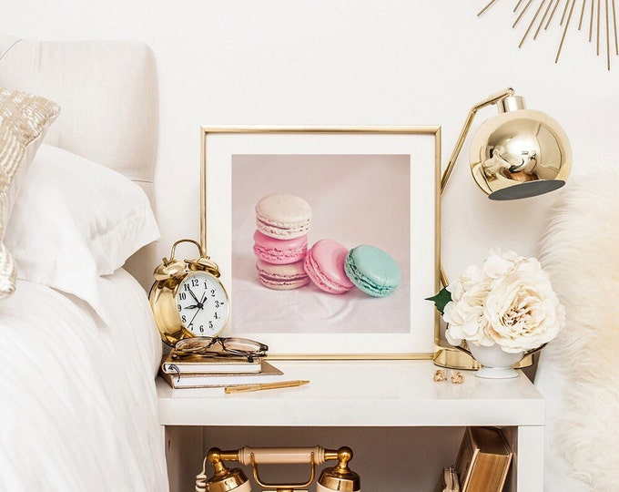Pastel photography print - Food photography - Macaron - Pastel
