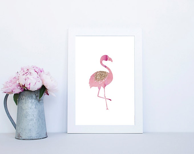 Flamingo print  - Pink - Rose gold