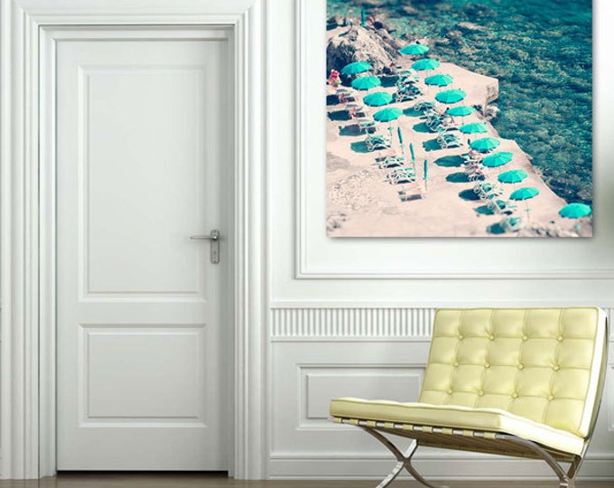 Aerial Beach Photography Canvas, Beach photography, Italy photography, Atrani print, Large wall print, Wall decor, Gift for her, Ocean print
