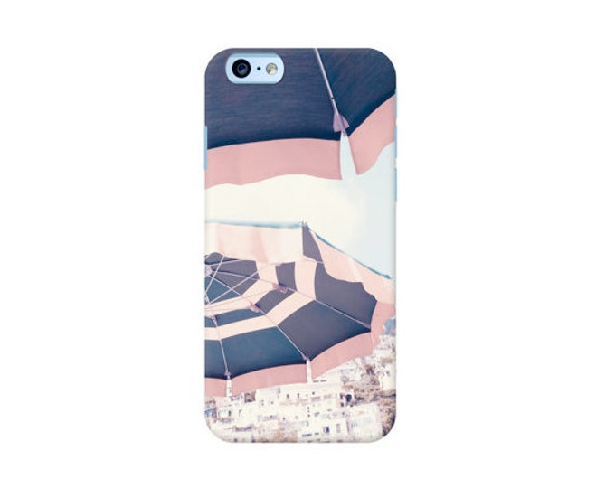 Beach iPhone 7 case, Beach umbrella iPhone case, Summer iPhone case, iPhone 6 case, iPhone 6 plus case, Pink iPhone case