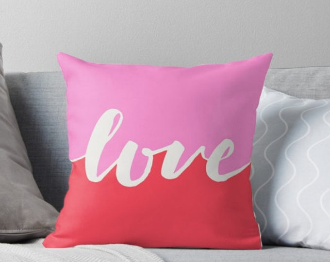 Valentine's Day Pillow - Love Pillow - Gift for her