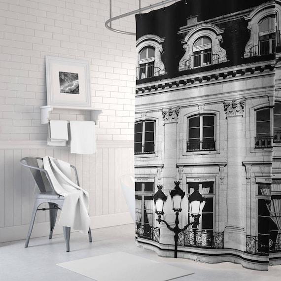 Black And White Paris Shower Curtain