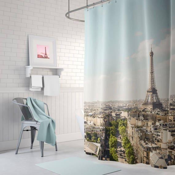 Paris Shower Curtain Eiffel Tower