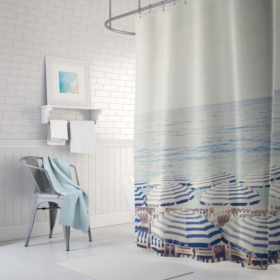 French Shower Curtain Beach Nautical