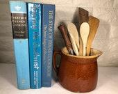 Vintage Stoneware Pitcher, Modern Farmhouse Kitchen Catchall, Succulent Planter, Kitchen Utensil Container, Rustic Milk Pitcher