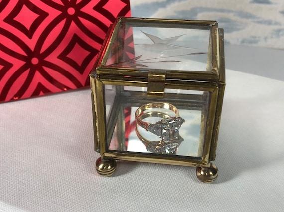 Vintage Jewelry Storage Jewelry Casket Boho Ring Box Bohemian Ring Box Ornate Silver Keepsake Box Boho Ring Box Holder