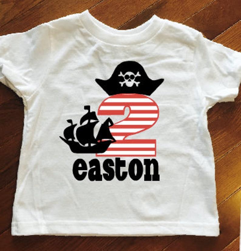Toddler Boy Birthday Shirt Pirate 3rd