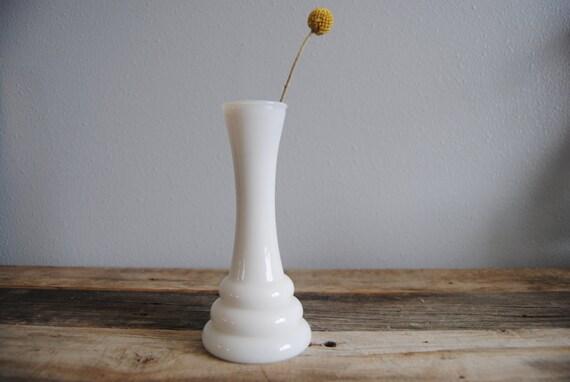 Vintage Randall Milk Glass Vase Etsy