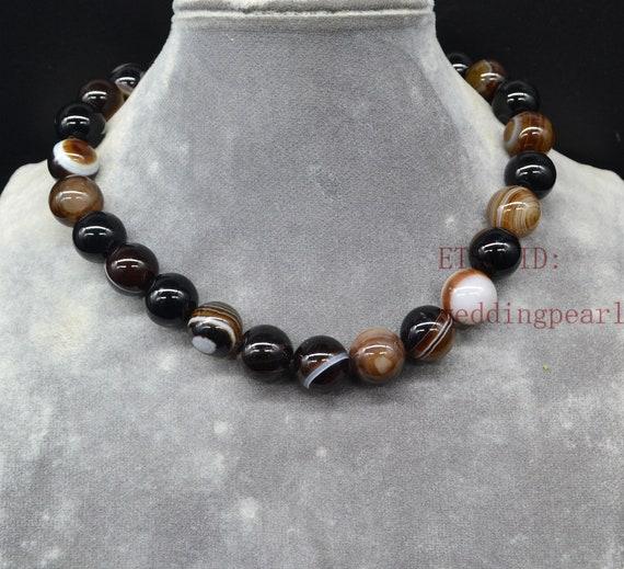 Gift under 25 Boho gift for her Boho Cream color beaded long necklace Gingerslittlegems Long Brown Agate necklace