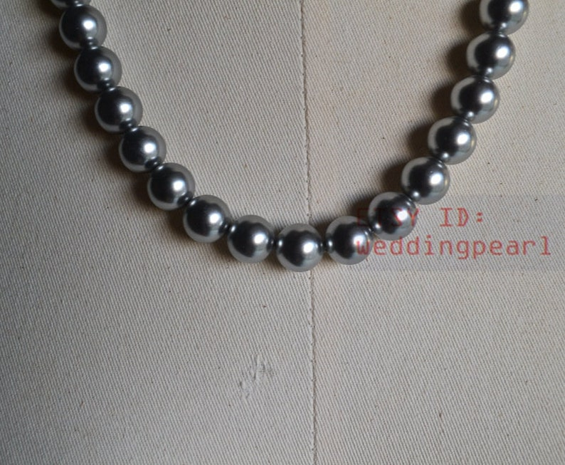 mother necklace,statement necklace bridesmaids necklace larger gray pearl necklaces 12mm mother of pearl necklaces big pearl necklaces