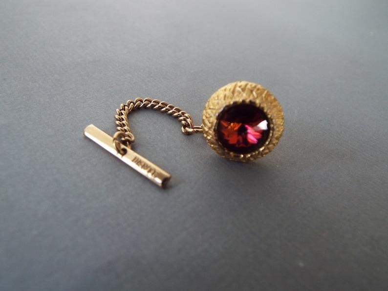 Dante gold metal Rivoli Volcano  tie tack pin marked