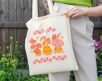 Oops it's another plant Tote Bag - Cute & Kawaii tote bag - Houseplant and Gardening - Shopping Bag - Reusable Bag - Canvas Bag - Geeniejay