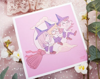 Digital Prints for Bedroom Wall Decor LWA Little Witch Academia Photo Collage Kit