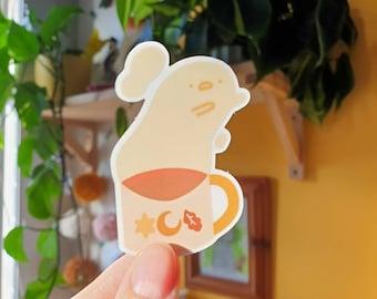 Cosy Coffee Transparent Sticker 7cm - Autumn and Fall - Pumpkin spice - Coffee Sticker - Cute & Kawaii Stationery - Geeniejay