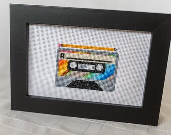 80s Cassette Tape - Cross Stitch PDF Digital Pattern