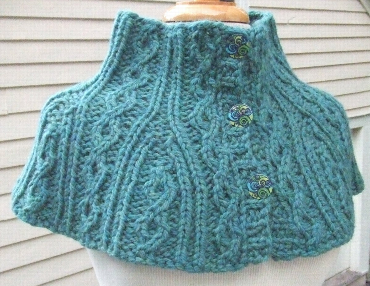 Knitting Pattern - Twisted Cable Neck & Shoulder Warmers, knit ...