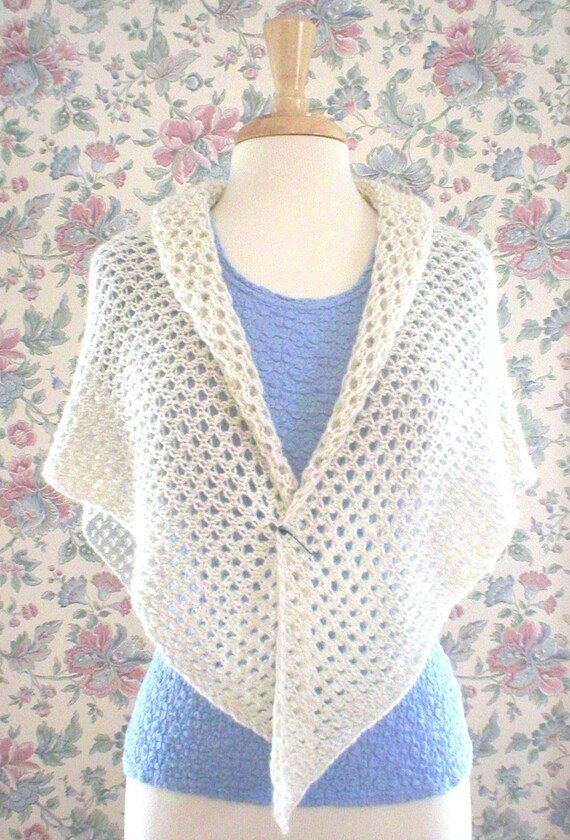 Knitting Pattern Spring Lace Wrap Easy Knit Lace Shawl Wrap Etsy