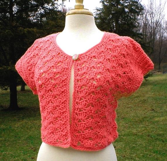Crochet Pattern Cap Sleeve Summer Cardigan Crochet Sweater Pattern