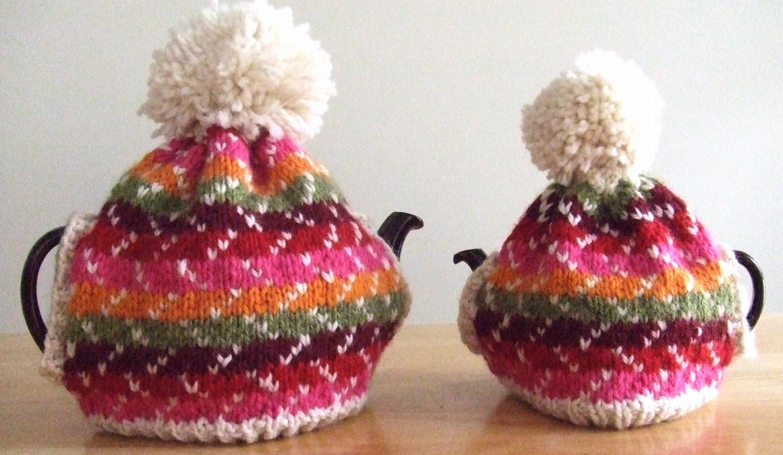 66 Off Clearance Sale Hand Knit Festivity Tea Cozy 4c Size Etsy