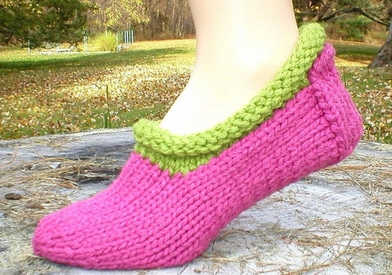 Knitting Pattern Shortie Slippers Faeroe Slipper Socks Knit Etsy