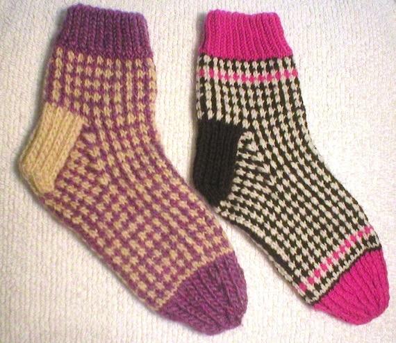 Knitting Pattern Honeycomb Tweed Socks Knit Slip Stitch Etsy