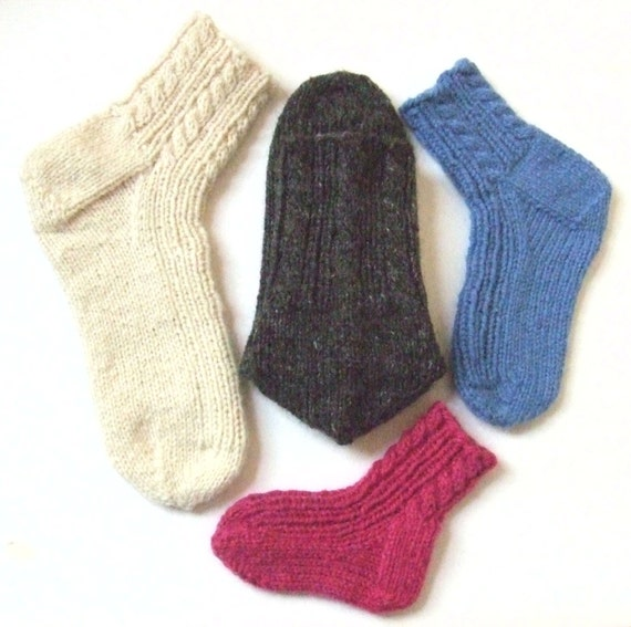 Knitting Pattern Cabled Family Socks Cabled Aran Ribbed Etsy