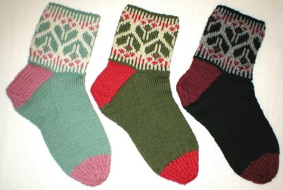 Knitting Pattern Springtime Socks Pdf Pattern Ladies Etsy