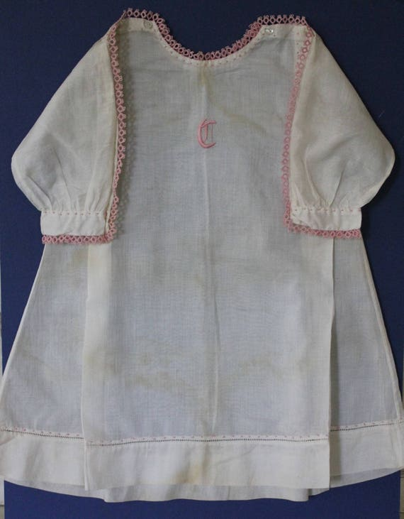 Exquisite French vintage toddlers dress, French gi