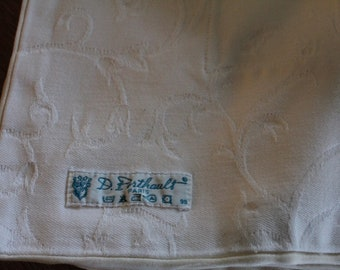 Exquisite Porthault tablecloth and 8 matching napkins Vintage Porthault French white Porthault clothFrench Vintage tablecloth and napkins