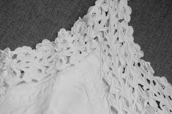 Antique French white nightie, French vintage night