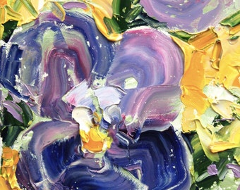 Fresh Flowers Triptych No.20-3, limited edition of 50 fine art giclee prints