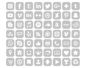 Grey Icons Etsy
