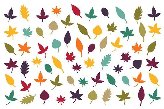 Fall Foliage Clip Art Simple Tree Leaf Silhouette Autumn ...