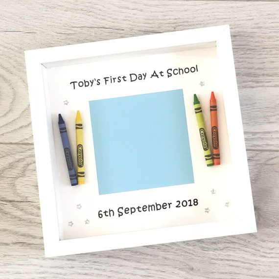 First Day At School / Nursery Crayon Photo Frame   Etsy