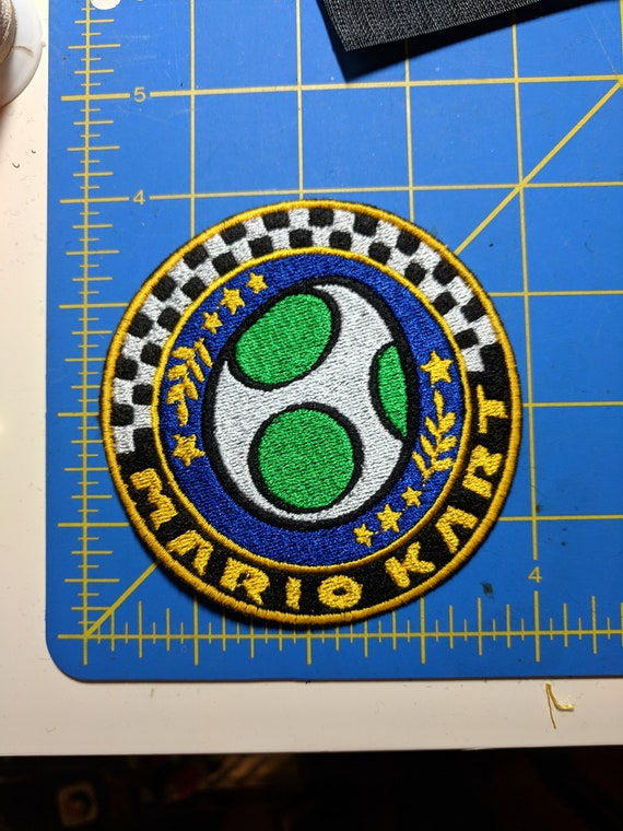 Mario Kart 8 Egg Cup Embroidered Patch Updated Design
