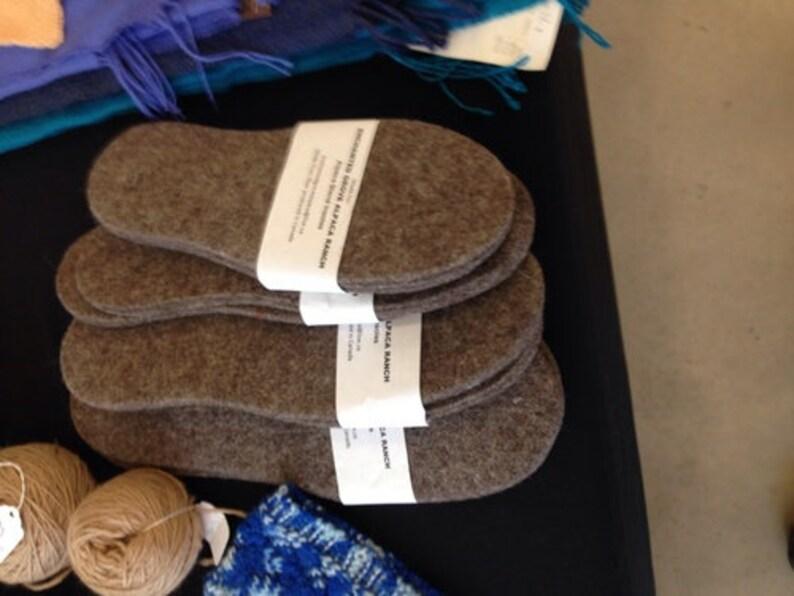 Alpaca Wool Foot Warmers Felted Inserts Burlap Wool Insoles