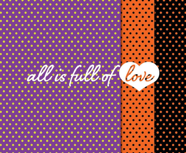 Halloween digital paper Halloween scrapbook orange and purple backgrounds All Hallows Eve Patterned paper commercial use