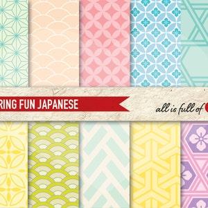 Japan Paper Seamless Vector Pattern Arrows Background Digital Paper Pack Shaft Pattern Bolt Paper Kit Geometric Patterns
