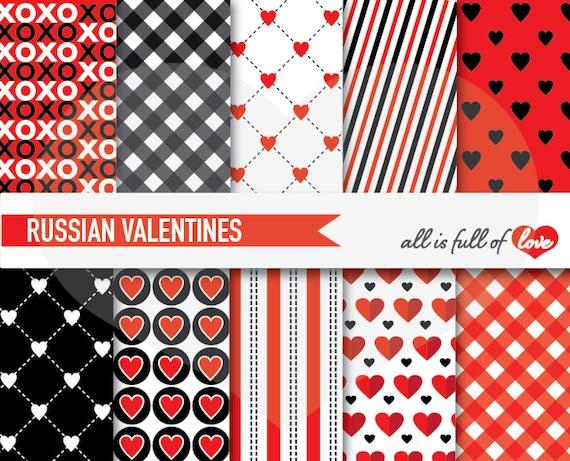 Valentines DIGITAL PAPER Pack Silver Polka Dots Grey Heart patterns stripes Valentines Paper Valentines Background Love A4 Letter