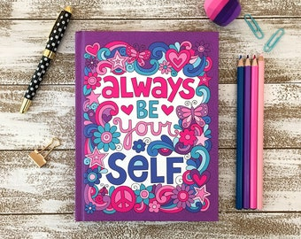 GUIDED WRITING JOURNAL, Notebook Doodles Go Girl! Inspiring Writing Prompts & Coloring Pages, Perfect Gift for Creative Writers, Kids Tweens
