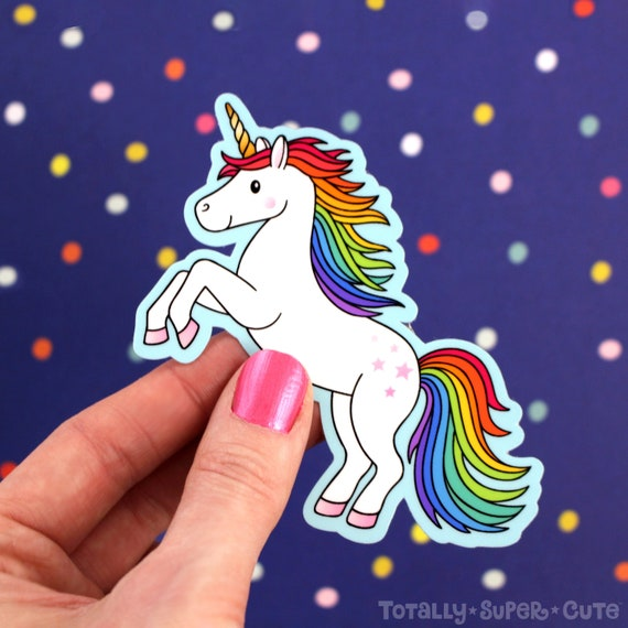 Great for car or laptop!!! Vinyl Cut A halting unicorn sticker or decal