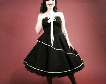 Black Petticoat Confirmation Dress 50s