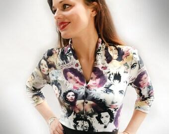 Vintage 50s jersey Dress