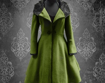 Winter Magic with this coat-light green
